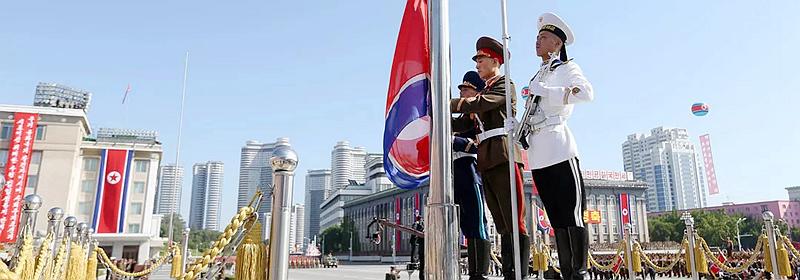朝鲜举行盛大阅兵集会 庆祝建国70周年
