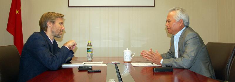 吴士存在京接受《华尔街日报》专访